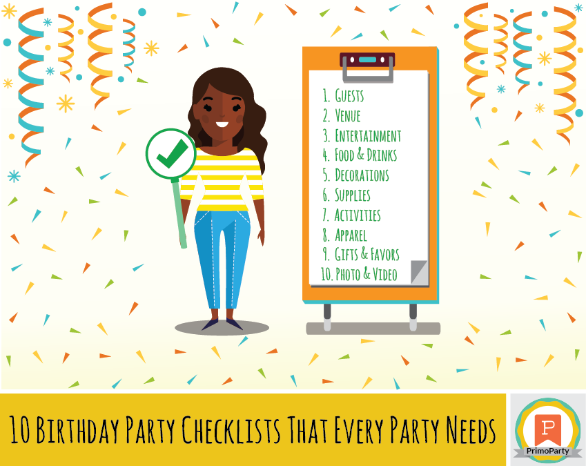 birthday party checklists