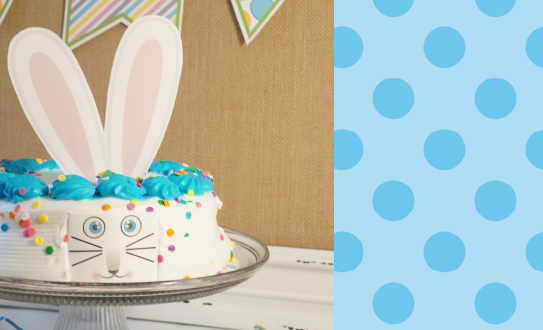 Easter Crafts Bunny Cake