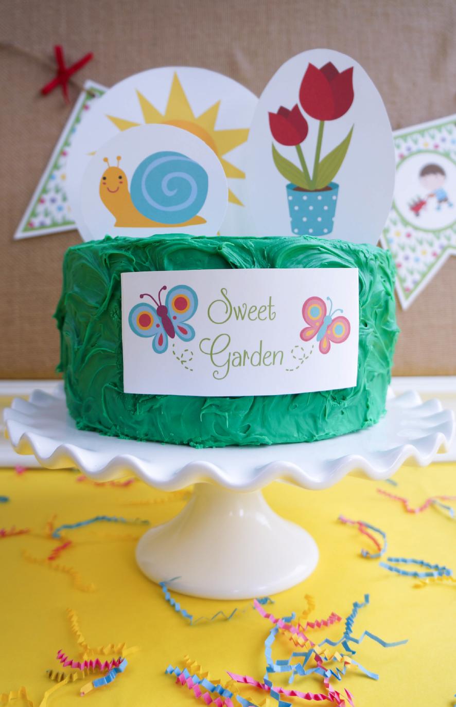 garden crafts cake