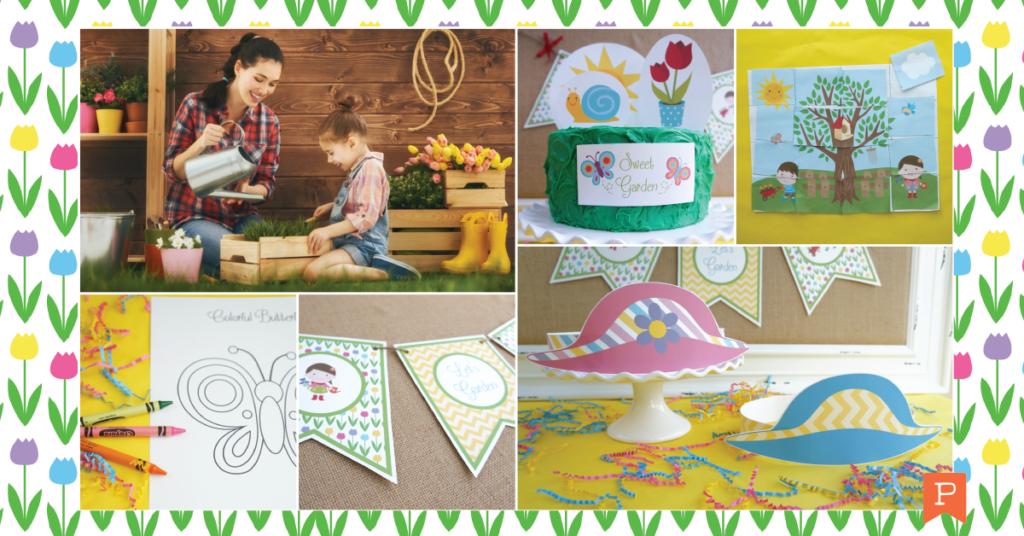garden crafts games decorations
