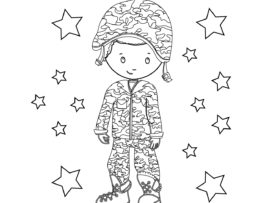 Memorial Day Coloring Page Boy 1