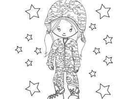 Memorial Day Coloring Page Girl 1