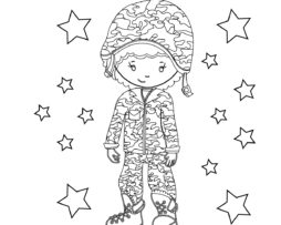 Memorial Day Coloring Page Girl 2