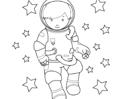 Moon Boy Mother's Day Printable Coloring Page