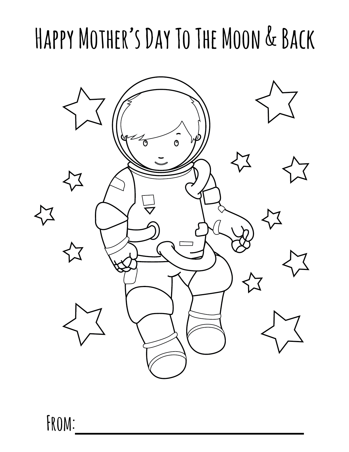 moon boy mothers day printable coloring page