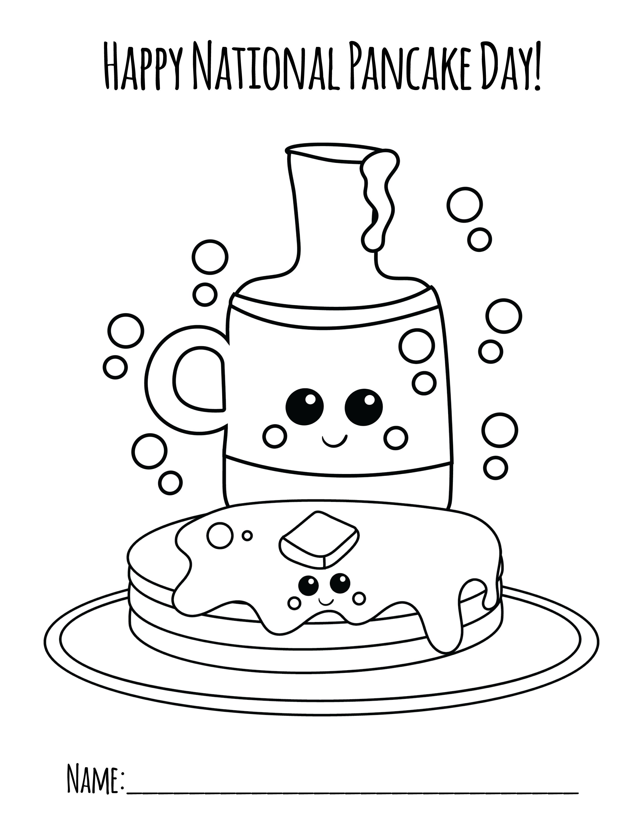 National Pancake Day Coloring Page