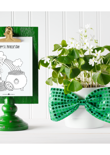 Boy St Patricks Day Coloring Page