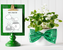 Girl t. Patrick's Day Coloring Page