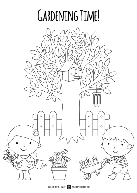 Garden Time Coloring Page