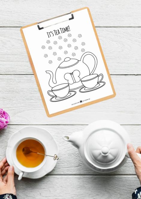 - Tea Party Coloring Page ⋆ Primoparty